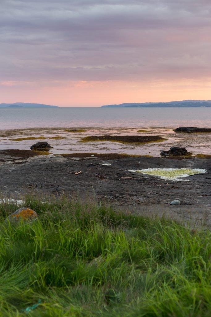 Norwegia - Hyllbukta zachód słońca o 24