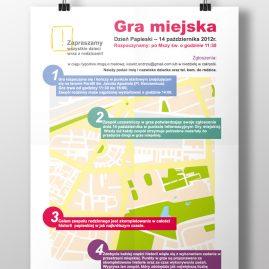 Plakat gry miejskiej