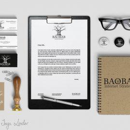 Logo i materiały Baobab Internet Strategies