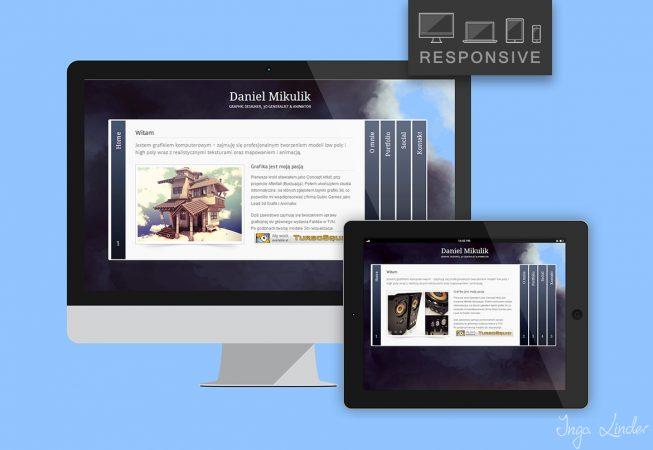 Strony internetowe - projekt portfolio grafik komputerowy