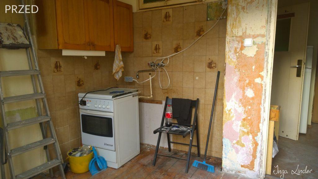 Remont mieszkania na wynajem - kuchnia przed