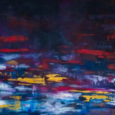Abstrakcja - obraz olejny Inga Linder