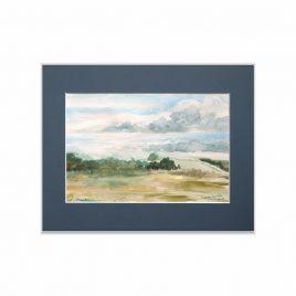 Krajobraz kaszubski - akwarela obraz