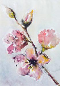 Kwiaty - akwarela Inga Linder-Kopiecka