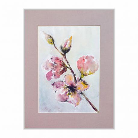 kwiaty-akwarela-obraz-do-sypialni