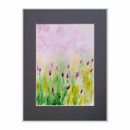 Lawenda - akwarela kwiaty