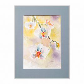 Storczyki - kwiaty akwarela na sprzedaż
