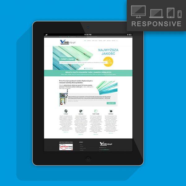 Strony internetowe - projekt  responsive producent zamków Vivazip