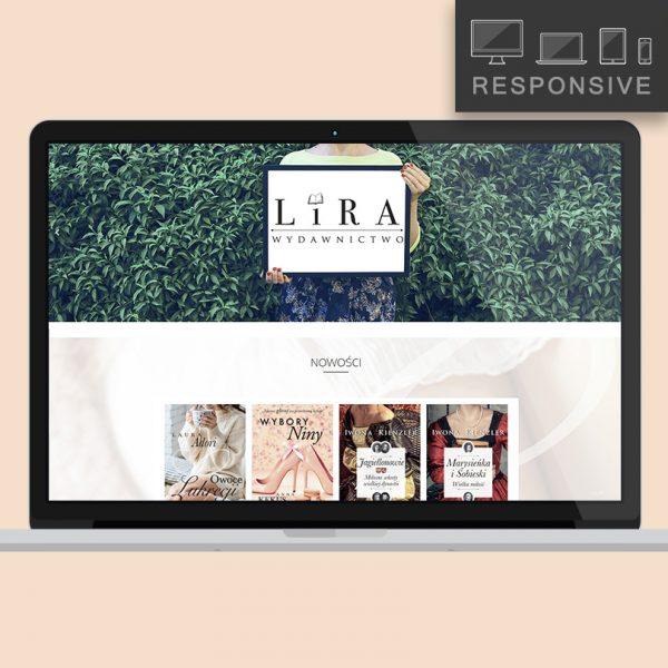 Wydawnictwo Lira - projekt i wykonanie strony  Inga Linder