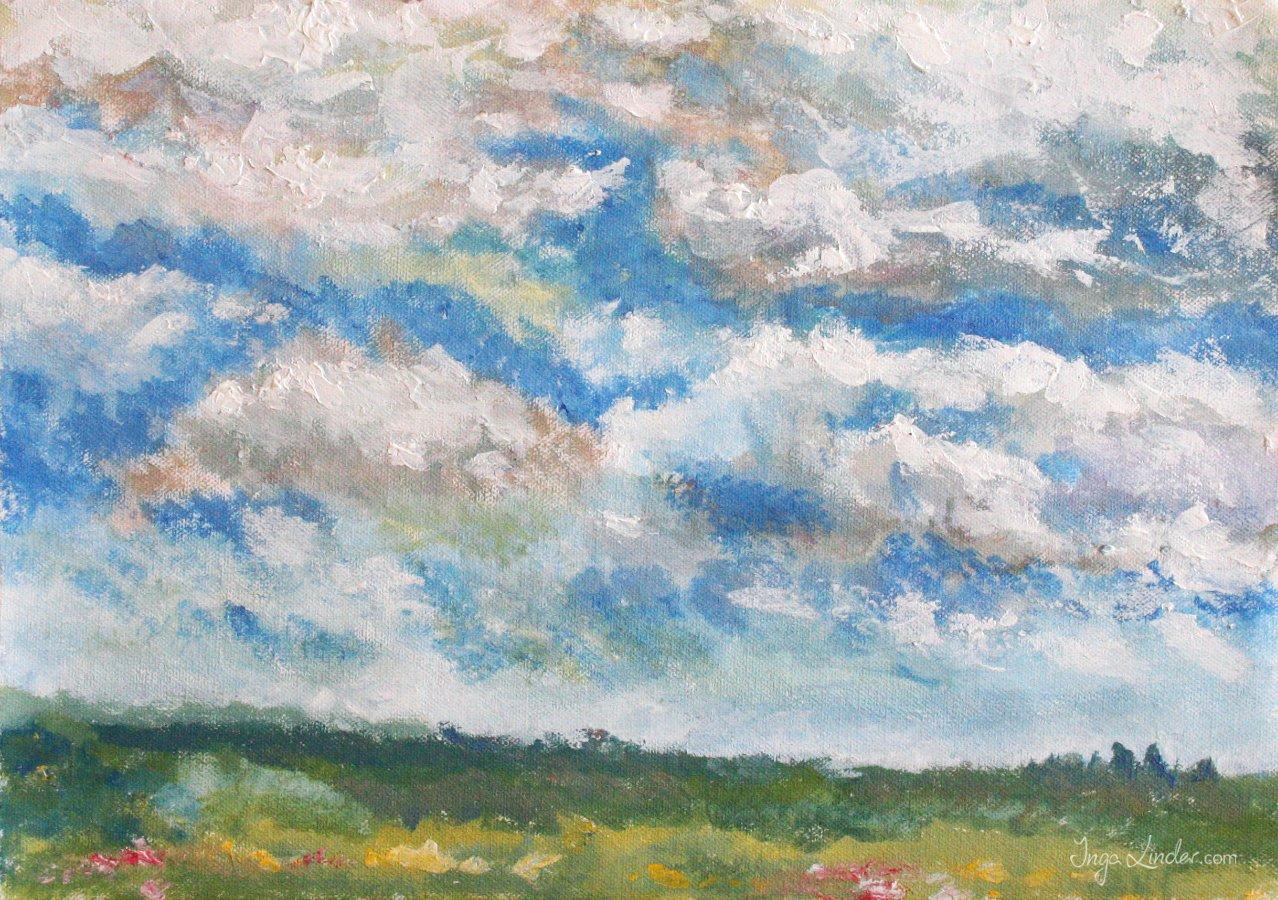niebo w Filipowie obraz akrylowy Inga Linder-Kopiecka -