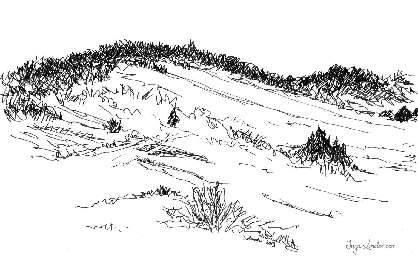 Krajobraz - marker Inga Linder