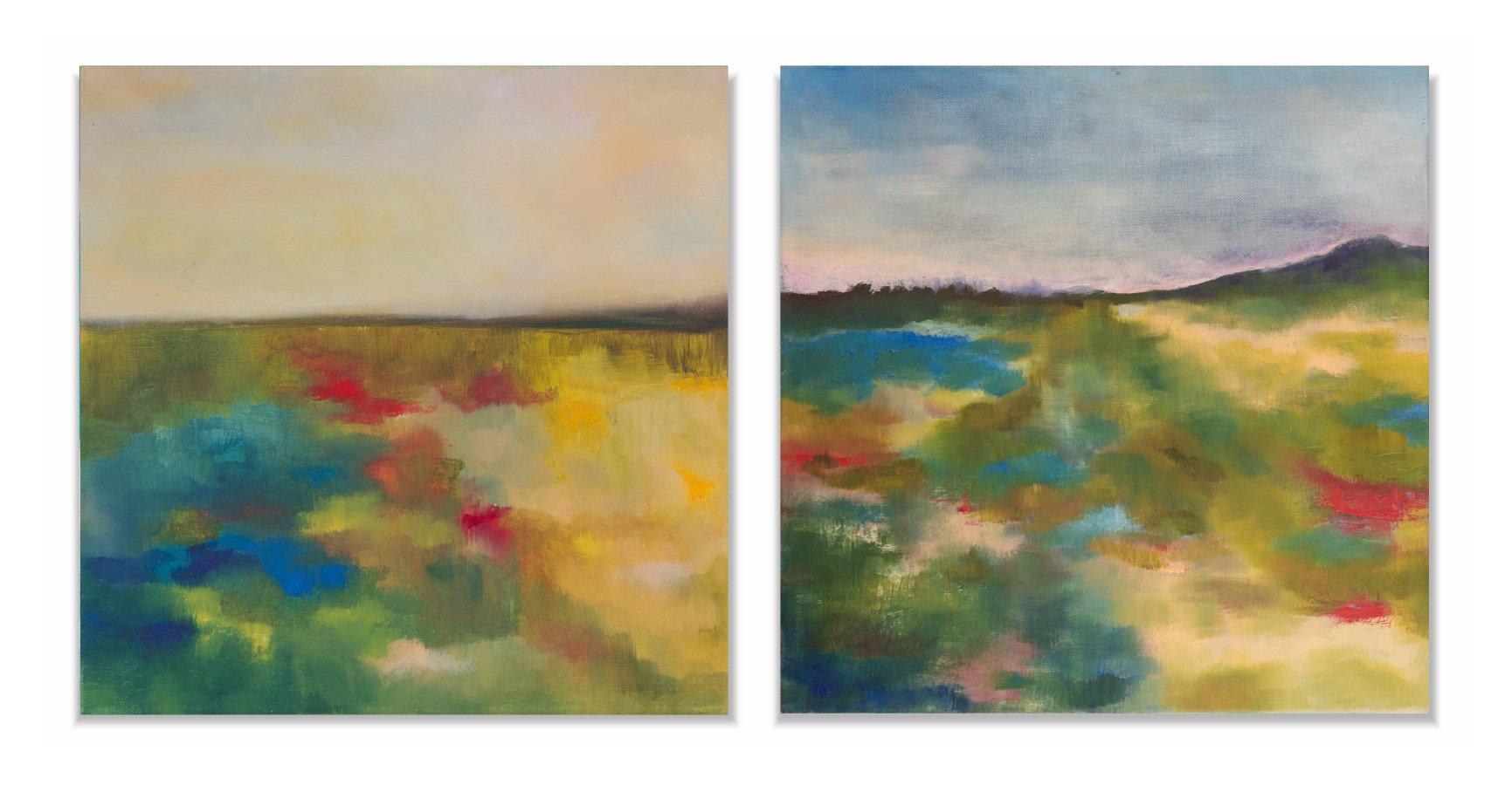 Krajobraz - dyptyk olej na płótnie Inga Linder